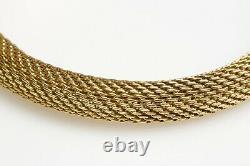 18K Yellow Gold Snake Bracelet with Diamond Eyes and Blue Enamel
