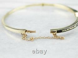 1Ct Round Cut Blue Sapphire Enamel Women's Bracelet 7.25 14K Yellow Gold Over