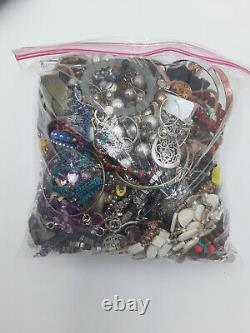 22.6 Lbs Jewelry Lot Vintage-Modern Wearable & Scrap Fashion & Watches HUGE