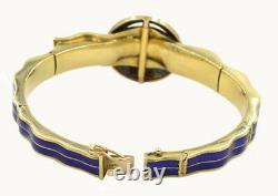 3.20ct ROSE CUT DIAMOND BLUE ENAMEL ANTIQUE VICTORIAN LOOK 925 SILVER BRACELET