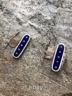 Antique Georgian Gold Blue Enamel And Diamond Mourning Jewellery Bracelet