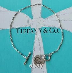 Authentic Rare Tiffany & Co Return To Tiffany LOVE Blue Enamel Toggle Bracelet