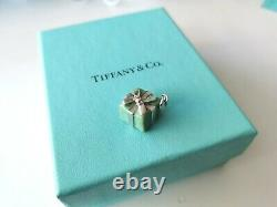 Authentic Tiffany Co. Retired & Rare Blue Box Charm for Bracelet/Necklace