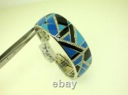 Belle Etoile Delano Bracelet With Blue/black Enamel New Retail $525.00