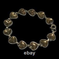 David Andersen Norway 925 Blue Enamel Hearts Bracelet 7