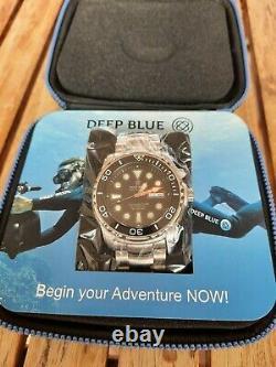 Deep Blue Pro Sea Diver 1000 42 mm Black Bezel Blue Dial Automatic w SS Bracelet