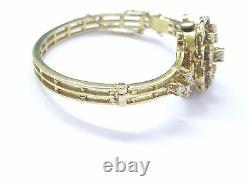 Fine Blue Enamel Diamond Yellow Gold Lucerne Watch Bracelet 1.20Ct