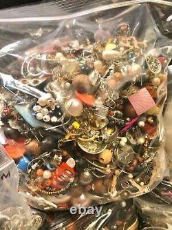 Huge! 135+ Pound Costume Jewelry Lot! Vintage To Now! Majority Wearable
