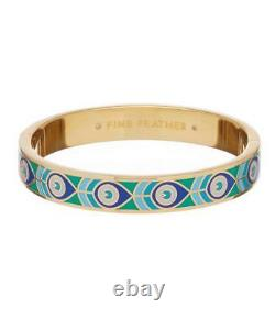 Kate Spade Fine Feathers Peacock Hinged Bracelet NWT Lovely Peacock Pattern