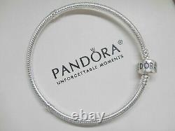 New Authentic Pandora Silver Bracelet With Blue Mom Love Family European Charms