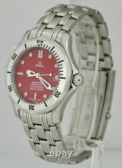 RARE Omega Seamaster Professional MARUI Red Wave Automatic 36mm Watch 2552.61