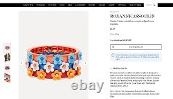 ROXANNE ASSOULIN Garden Variety enamel and gold-tone bracelet orange/blue new