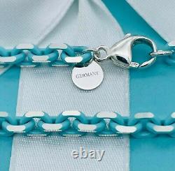 TIFFANY & CO. Silver Bracelet with Blue Enamel Finish Sparkler New 8