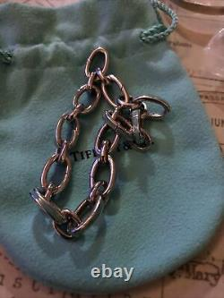 Tiffany & Co Blue Enamel Clasping Links Bracelet