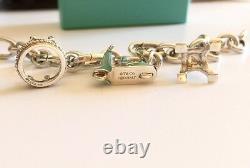 Tiffany & Co. Crown, Blue Enamel Scooter, Heart & Eiffel Tower Bracelet