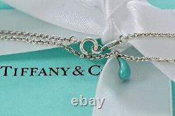 Tiffany & Co. Elsa Peretti Sterling Silver Blue Enamel Teardrop 7 Bracelet