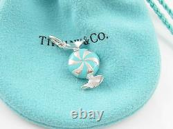 Tiffany & Co NEW Blue Enamel Bon Bon Candy Charm Pendant 4 Bracelet Necklace