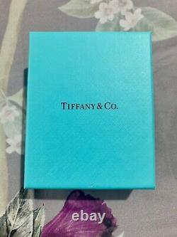 Tiffany & Co Return to Silver Heart Ball Blue Enamel Bead Bracelet Medium