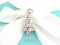 Tiffany & Co Silver 925 Red Blue Enamel Christmas Tree Charm 4 Necklace Bracelet