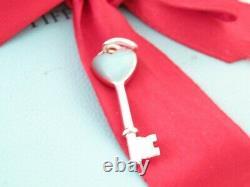 Tiffany & Co Silver Blue Enamel Heart Love Charm For Necklace Or Bracelet