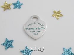 Tiffany & Co Silver Blue Enamel Return To Tiffany Pendant For Necklace Bracelet