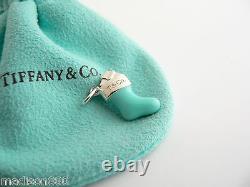 Tiffany & Co Silver Blue Enamel Stocking Sock Charm 4 Necklace Bracelet Gift