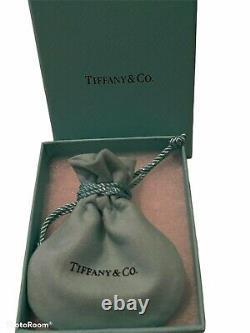 Tiffany & Co Sterling Silver Charm Blue Enamel Bracelet 7.75