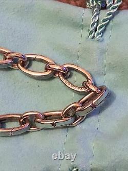 Tiffany Enamel Blue Clasping Links In SS