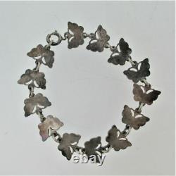 Volmer Bahner Denmark Blue Guilloche Enamel Butterfly Bracelet